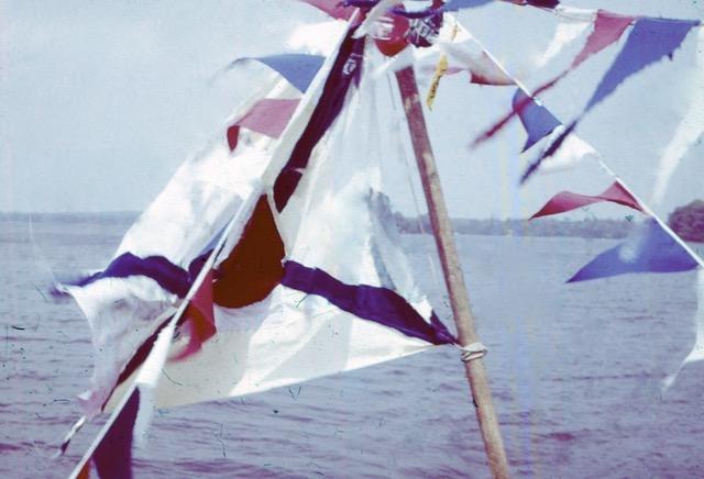 Die Flagge im Wind