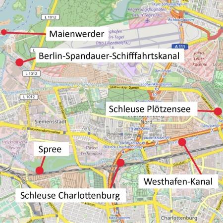 Karte zur Schleusen-Tour