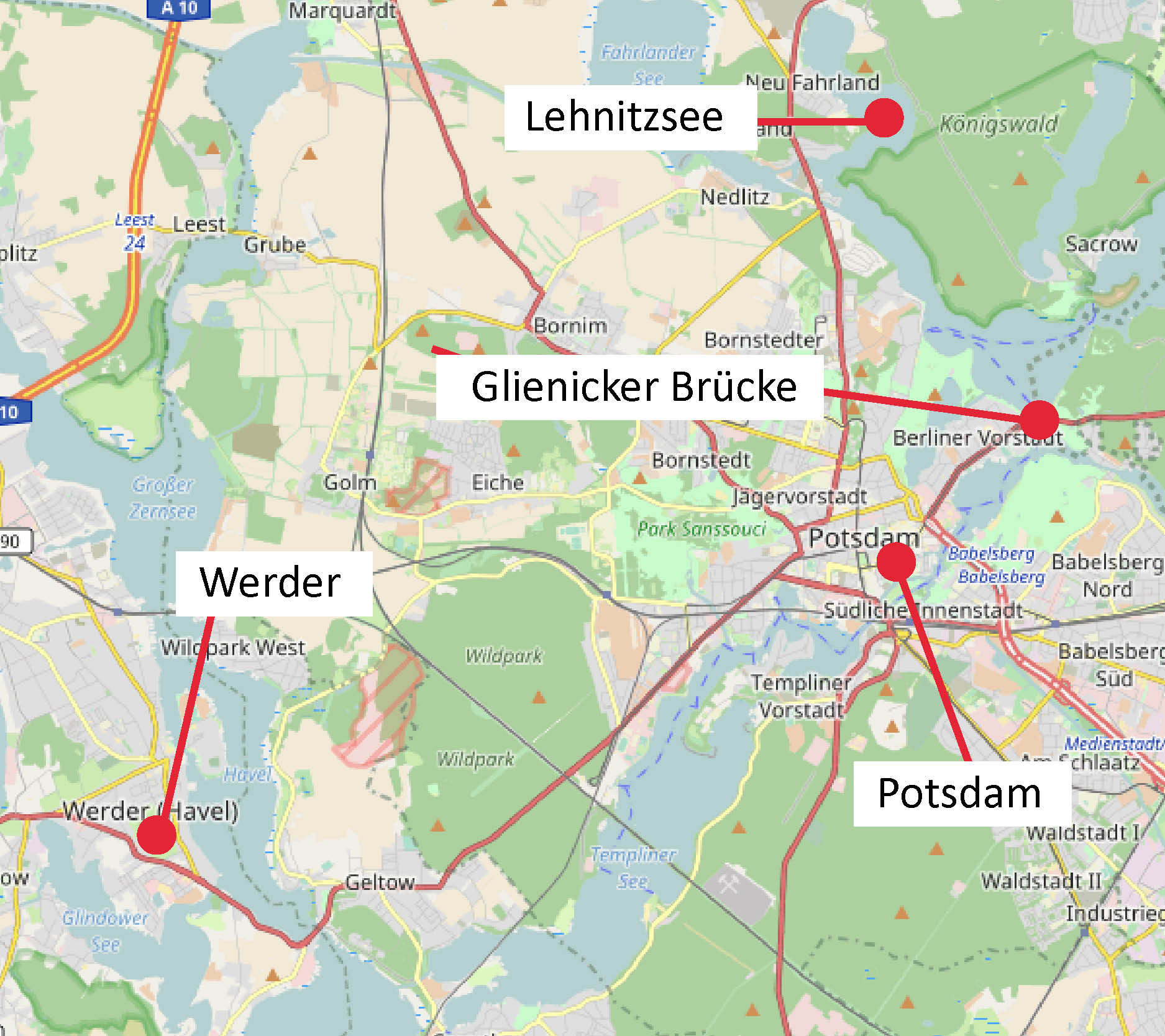 Potsdam und Werder