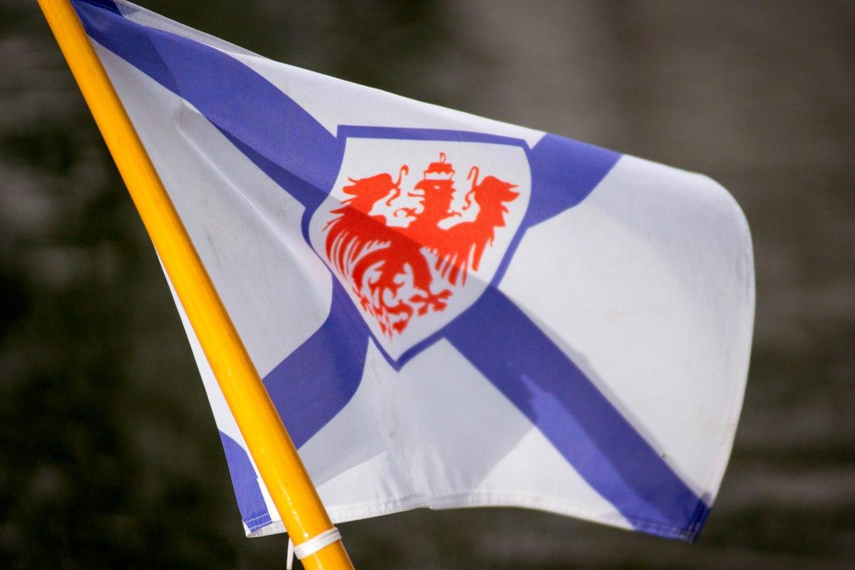 Die Flagge des Märkischen Rudervereins