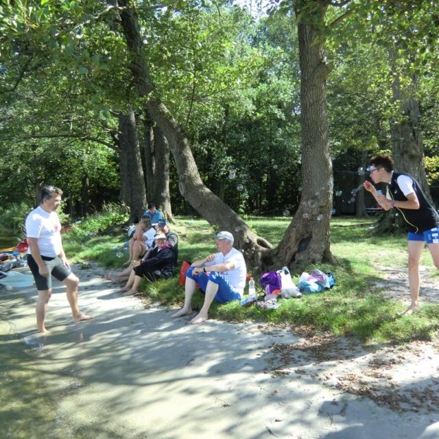Pause auf der Wanderfahrt nach Lehnin