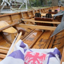 Blick in ein Ruderboot
