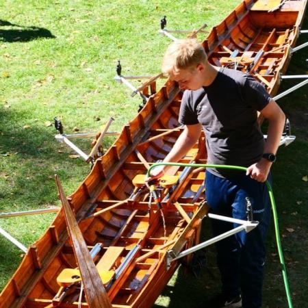 Jugendsommerfeier - Boote putzen