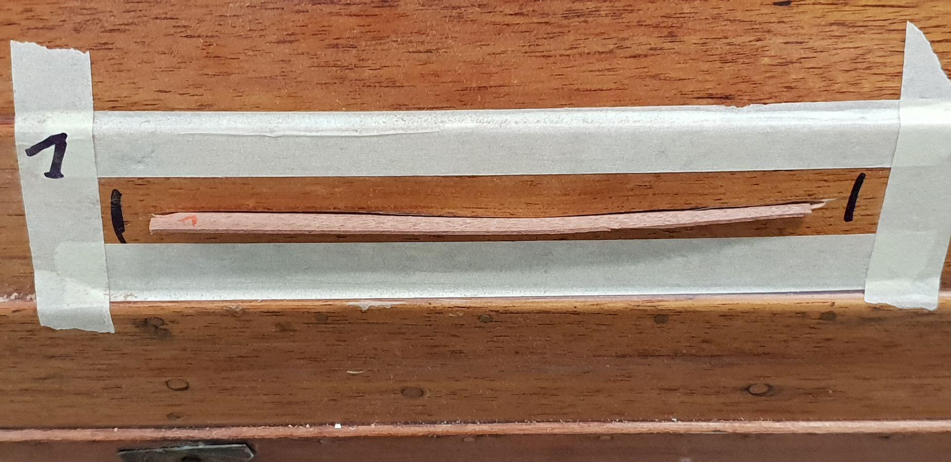 Einer von vielen Plankenrissen an einem Rudeboot