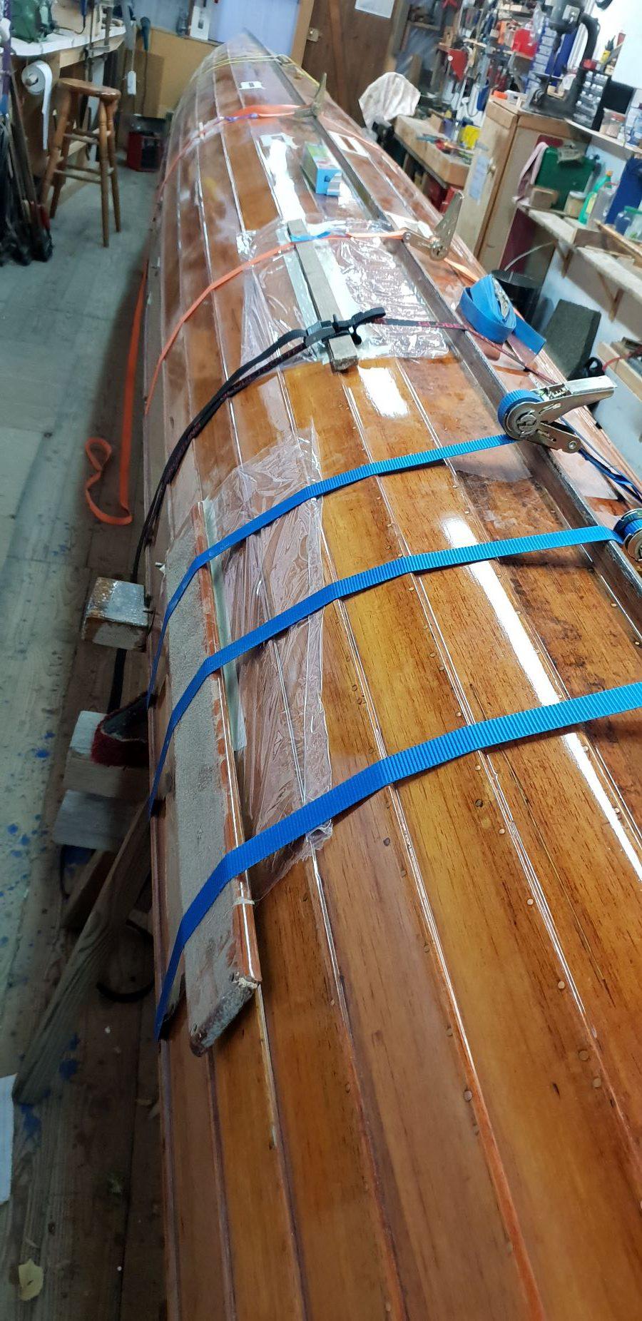 Ruderboot in der Werft