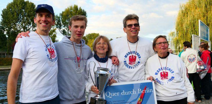 Der Pokal bleibt bei uns! Die Märker gewinnen erneut das Beginner-Rennen bei 'Quer durch Berlin'