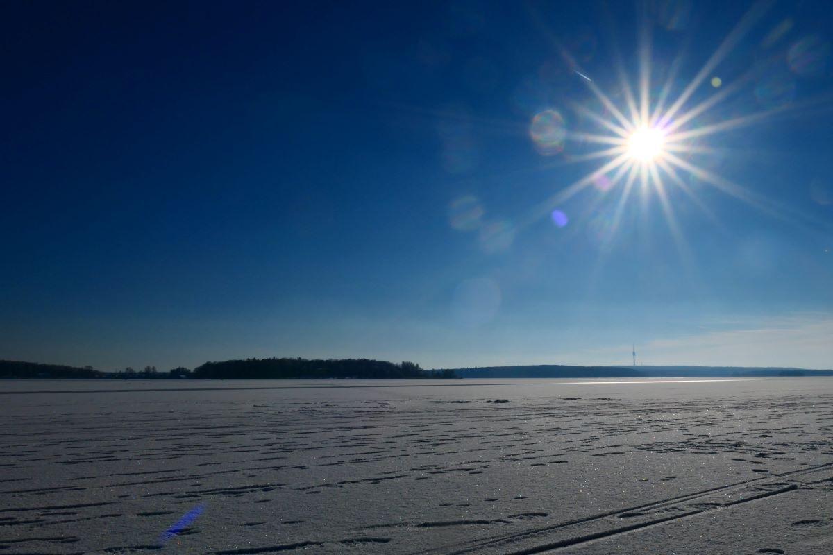 Strahlender Sonnenschein bei Breitehorn