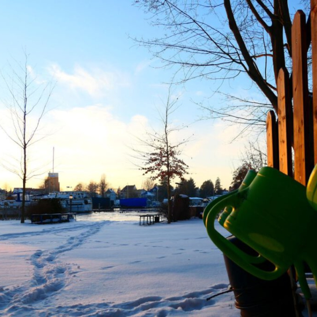 Blick über das winterliche MR-Gelände